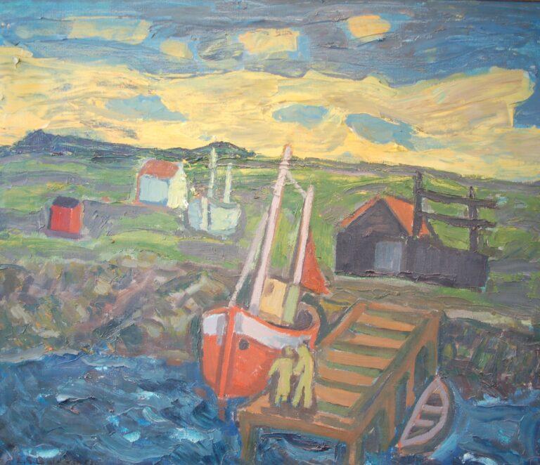 hafnarmynd eftir Einar G Baldvinsson