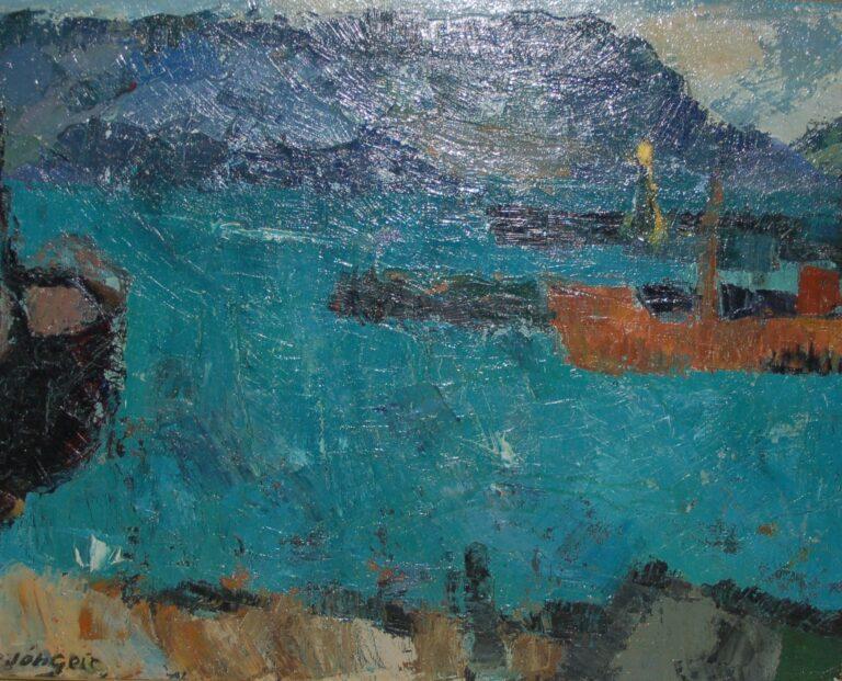 Hafnarmynd eftir Jóhannes Geir