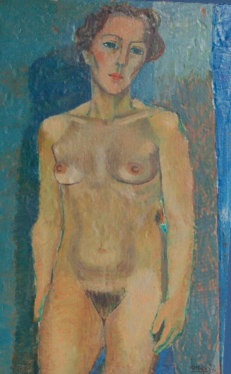 Olíumynd eftir Braga Ásgeirsson, Model