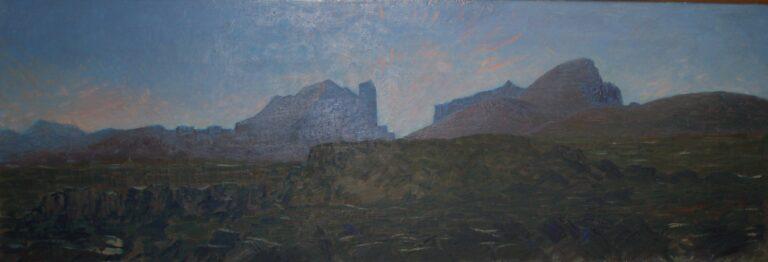 Dyrfjöll, olíumynd eftir Kjarval